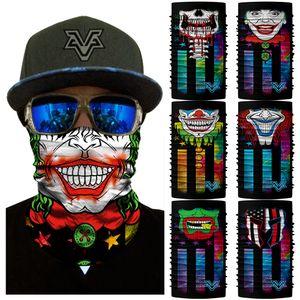 BANDANA 3D Sem Costura Joker Céu Estrelado Unisex Magia Headband Máscara Facial Bicicleta Caminhadas Caça Balaclava Beard Skull Neck Warmers