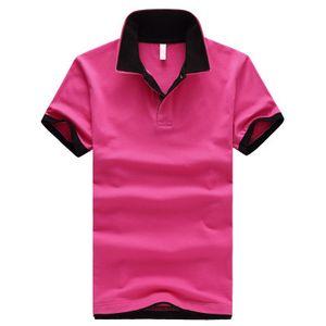 큰 야드 새로운 패션 여름 남자 솔리드 셔츠 슬림 맞는 반팔 대비 셔츠 남자 셔츠 M-5XL 플러스 크기