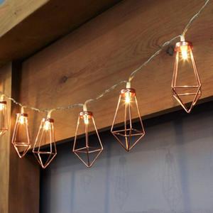 MOQ: 5 PCS Decorar Festival de Natal String String Forma de Diamante LED Luz Quarto Ao Ar Livre Dec Party Supplies Para Casamento Acc