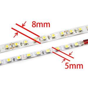 5mm 폭 500 2,835 600 SMD LED 유연한 스트립 라이트 120 LED / LED 테이프 m / 화이트 온백색