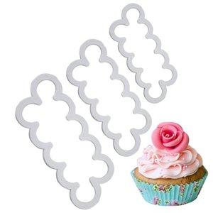 3шт торт Gumpaste Sugarcraft простой Роза когда-либо резак печенья фондант украшения инструмент Sugarcraft роза цветок плесень