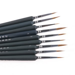 New 9Pcs/set Brush Pen For Sketched Lines Gouache Watercolor Paint Oil Painting #1Practice calligraphy student school supply