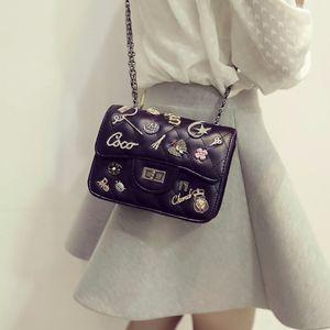 New Small Famous  Crossbody Shoulder Bag Female Fashion Mini Women Messenger Bag  Black Chain for Girls 2016