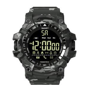 EX16 Além disso relógio inteligente Homens Esporte Relógio de pulso 5ATM Waterproof Atividade Rastreador Bluetooth pedômetro inteligente Pulseira Para Android IOS Telefone Wartch
