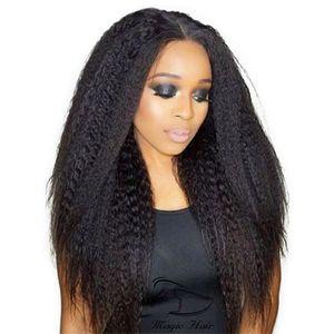 360 كامل الرباط الشعر البشري الباروكات 8a العذراء بيرو الشعر غريب مستقيم الأفرو الدانتيل الباروكات للنساء السود الطفل الشعر فريشيب