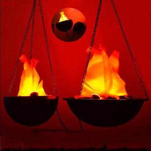 Светодиодные подвесные поддельные пламя лампы Факел огни огонь горшок чаша для Хэллоуин фестиваль партии декора поставки высокого качества 45hy BB