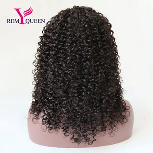 Remy Queen Brazilian Kinky Curly Front Lace Wig Natural Hairline With Baby Hair 1 1B 2 4 Natural Color 130% Density Cheaper Hot Sale