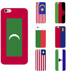 Лесото Либерия Лихтенштейн Мадагаскар Малави Малайзия Мальдивы Leanon Национальный флаг Тема ТП телефон дело для iPhone 6 / 6s / 7 / 7s / 8s / 11 / X