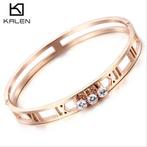 Presentes por atacado maciça quente jóias em ouro rosa titânio das mulheres bracelete de diamantes Meteorito de aço fábrica de jóias Supplies Artesanato Simples