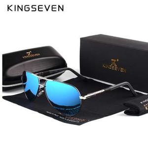 KINGSEVEN Occhiali da sole vintage in alluminio polarizzati HD da uomo Classic Brand Occhiali da sole Occhiali da sole con lenti di guida per gli uomini / Wome