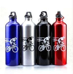 750ml Bottiglia di acqua Bottiglia in lega di alluminio MTB Borraccia per bicicletta Sport all'aria aperta Campeggio Escursionismo Bicicletta Bici in bicicletta Bottiglie d'acqua