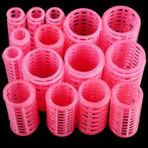 15pcs set Plastic Hair Curler Roller Large Grip Styling Roller Curlers Hairdressing DIY Tools Styling Home Use Hair Rollers