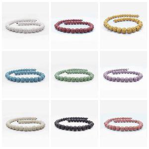 14 Stili Unique Round Vulcano Lava Rock 12mm Perline Multi Color Lava Stone Beads per la Collana Diffusore di Olio Essenziale per bambini Gioielli per adulti