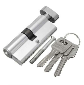 Door Lock Copper Locking Security Core Door Cylinder with 3 keys door lock Cylinder for interior doors