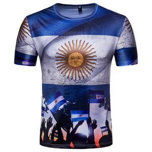 Homens vestido de rua t-shirt camisa esportiva casual 2018 mundo russo pampas águia manga curta argentino