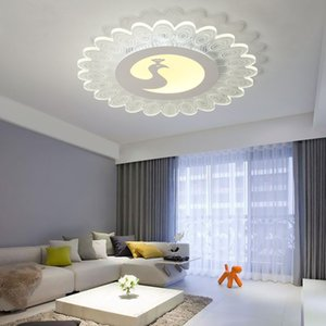 Ultra-delgada de acrílico de la lámpara de techo llevada pavo real de iluminación creativa de baile personalidad clase lámpara del dormitorio sala de la princesa de los niños
