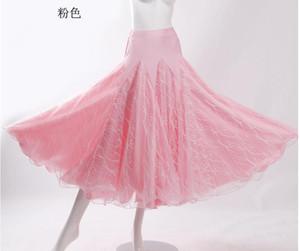Flamenco Dance Costume Skirt Long Ballroom Dancing Modern Standard Waltz Dancer Dress Spain pink red orange blue
