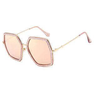 2018 Cuadrados Gafas de Sol de Lujo Diseñador de la Marca Señoras de Gran Tamaño Gafas de Sol de Cristal Mujeres Gran Marco Espejo Gafas de Sol Para Mujer UV400