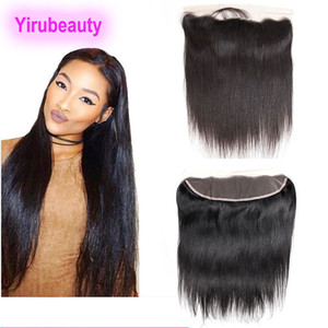 Malaysian 13X4 Lace Frontal Straight Hair Free Part Ear To Ear 13 by 4 Lace Color Middle Brown Human Hair