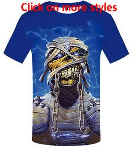 Lizhiyang Neue Mode Paare Männer Frauen Unisex Iron Maiden Lustige 3D Druck Keine Kappe Casual t-shirt T-Shirts Tee Top