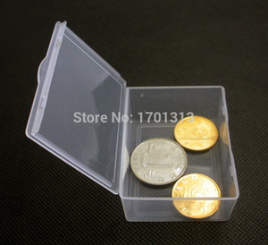 50pcs / серия Малый прямоугольный ящик Прозрачный пластиковый ящик для хранения Коллекции Контейнер чехол для винтов монет 5,5 * 4,3 * 2,2 см