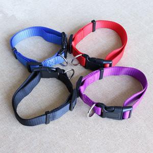 ошейники CW019 Новая мода нейлоновых для маленьких собак Pet Cat Воротник 4 Размеров 4 цвета регулируемого ошейник из нейлона оптовых