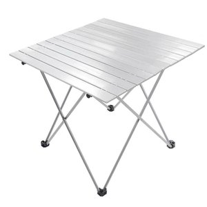 Portable Aluminum Roll Up Folding Table w  Carry Bag Heavy Duty Outdoor Camping