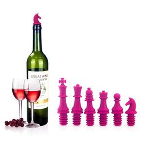 와인 스토퍼, 체스 와인 병 마개 재사용 가능한 실리콘 캡 맥주 실러 커버, 식품 학년, 병 코르크 참신 선물 세트