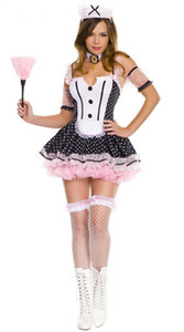 Lady Sexy Maid Outfit Women Sweet French Maid Costume Party Cosplay Disfraz