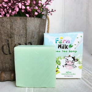Tayland El Yapımı OMO Fern Süt Yeşil Çay Sabunu Cilt Bakımı Doğal Sabun siyah nokta Remover Yağ Kontrolü Yüz Sabunu