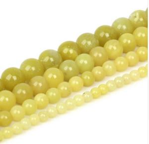 Venta al por mayor de cuentas de piedras naturales redondas para hacer joyas bricolaje perlas de color marrón pálido 4/6/8 / 10mm 15''strand pulseraNecklace