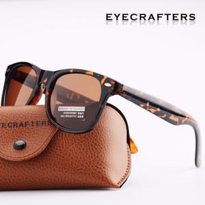 Tortoise Retro Sunglasses Eyewear Fashion Eyecrafters Occhiali da sole polarizzati da donna vintage da uomo Driving Mirrored UV400 2140 Brown