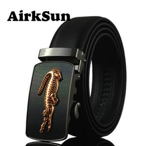 AirkSun 2017 Correias Moda 140 centímetros Crocodile Buckle Mens por couro genuíno Big Size Men Belt ceinture homme