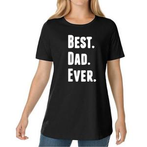 أفضل أبي ever 2018 أزياء تي شيرت للمرأة رسالة مطبوعة المتناثرة الشرير نعرفكم القطن الإناث قميص زائد حجم قمم
