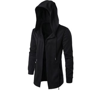 CPI Hommes Sweats À Capuche Avec La Robe Noire Hip Hop Manteau Hoodies Mode Veste à Manches Longues Manteau Manteaux Pour Hommes YF-28