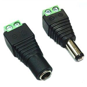 Aucune soudure 2.1x5.5mm Alimentation DC Jack Plug Socket dc Connecteur Femelle + Mâle DC Plug Jack Adaptateur Connecteur de fil Connecteur CCTV