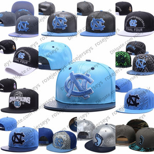NCAA North Carolina Tar Heels Caps 2019 transporte New College ajustáveis ​​Hats All Blue Black Light Universidade Snapback branco cinzento UNC gratuito