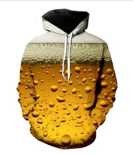 Newest Fashion Womens Mens Harajuku Beer Full Beer bottle cap Funny 3D Print Casual Crewneck Hoodies Plus Size LMS018