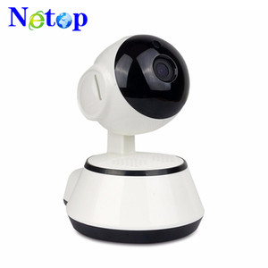 NetOp Hottest Slot pan tilt telecamera IP wireless di WIFI 720P Infrared CCTV di sicurezza domestica Cam micro SD Microfono