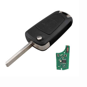 Remote Key Fob 2 Button 433Mhz PCF7941 for Vauxhall Opel Astra H 2004 -2009 Car Key HU100 Blade