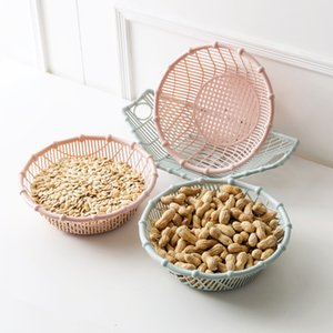 플라스틱 건조 과일 트레이 간식 바구니 거실 과일 트레이 차 테이블 과일 바구니 Pinnut Basket