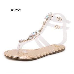 Sandali Diamond donna Koovan femminile Scarpe stringate ragazze 2018 New Bohemia Folk Style Roma Beach Shoes Flat Summer