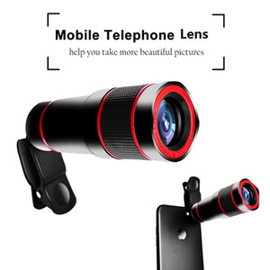 iPhone Para telescópio óptico do telefone móvel Lente zoom de 14x 4K HD Phone Camera Lens Samsung Huawei Xiaomi