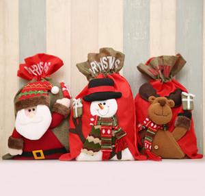 Noel Hediye Çanta Santa Sacks Yeni Yıl Ziyafet Hediyeler Sahipleri Çanta Ev Xmas Party Çıkartması Noel Süslemeleri