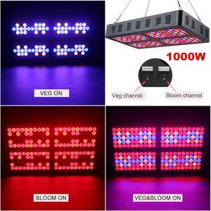 1,000w 이중 스펙트럼은 채식 / 꽃 스위치 3535 LED 성장 라이트 패널 램프 전체 스펙트럼 실내 정원 조명 식물 수경 조명