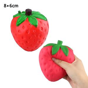 Squishy Strawberry Медленно растущие милые дети сжимают игрушки для сброса давления мягкие 12см большие колоссальные игрушки-пинцеты BBA106