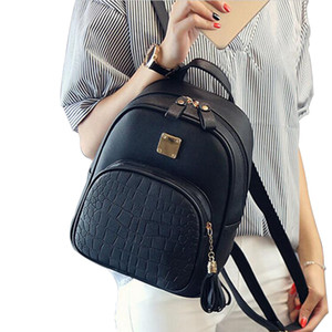 Ladies New Fashion Backpack PU Leather Korean odile Wild College Wind Leisure Package 024