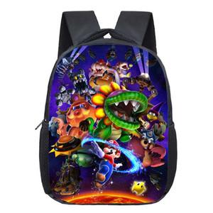13 pulgadas de Super Mario Bros niños de Kinder Mochila bolso de escuela Los niños de impresión Mochila los muchachos de las niñas