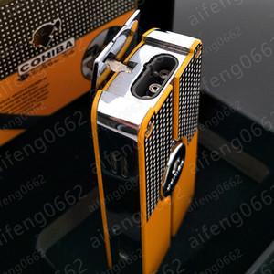 고품질 코 히바 제트 3 토치 푸른 불꽃 금속 가스 풍선 펀치 시가 라이터 무료 배송 프로모션 가격