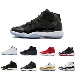 2018 Nouveau 11 PROM NIGHT BLACKOUT SPACE JAM Hommes Chaussures de basketball Baskets Athlétiques 11s XI Hommes Basket Ball Chaussures Sport Homme Chaussures de formateur